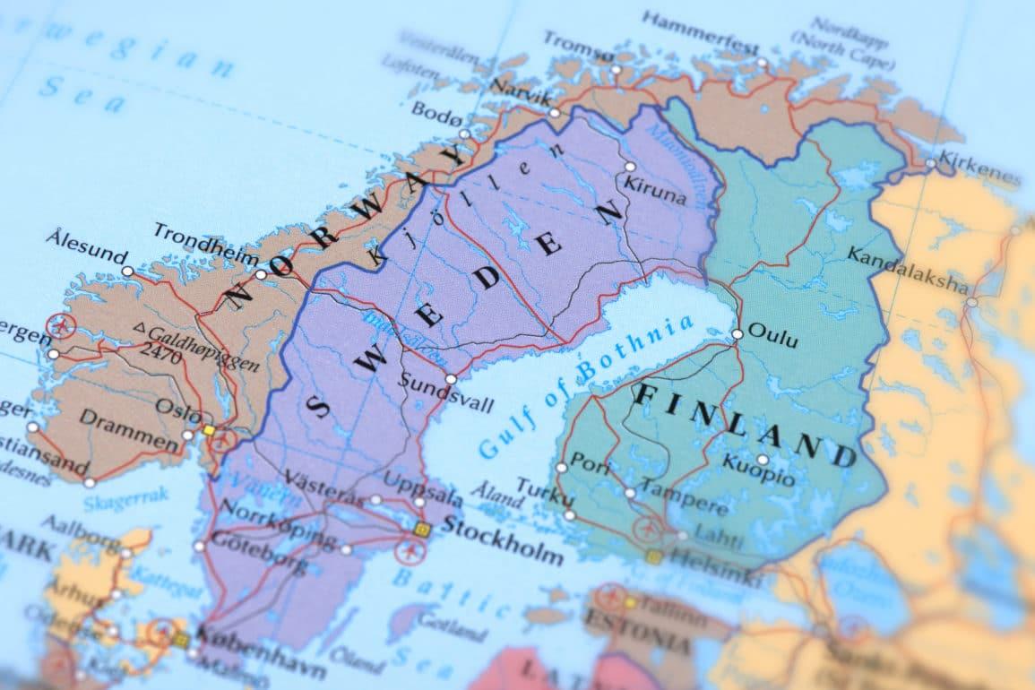 Map of Scandinavia 1
