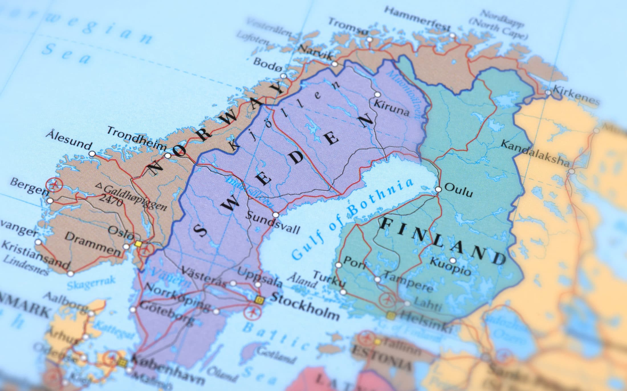 The Best Map Of Scandinavia Superb Scandinavian Maps