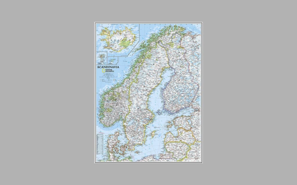 Map of Scandinavia 3
