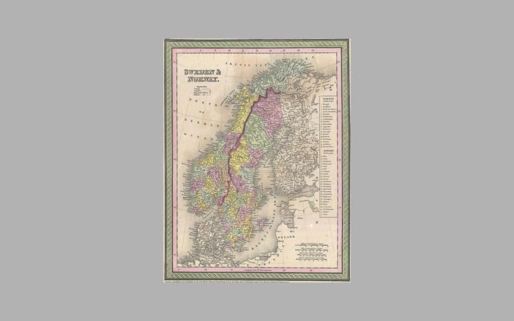 Map of Scandinavia 4