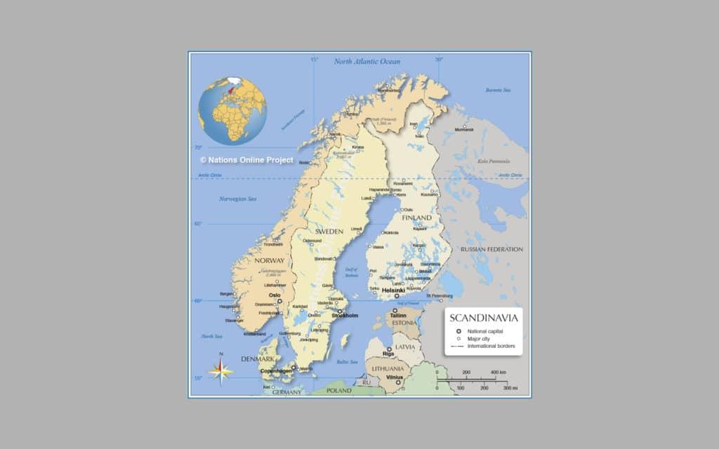 Map of Scandinavia 5