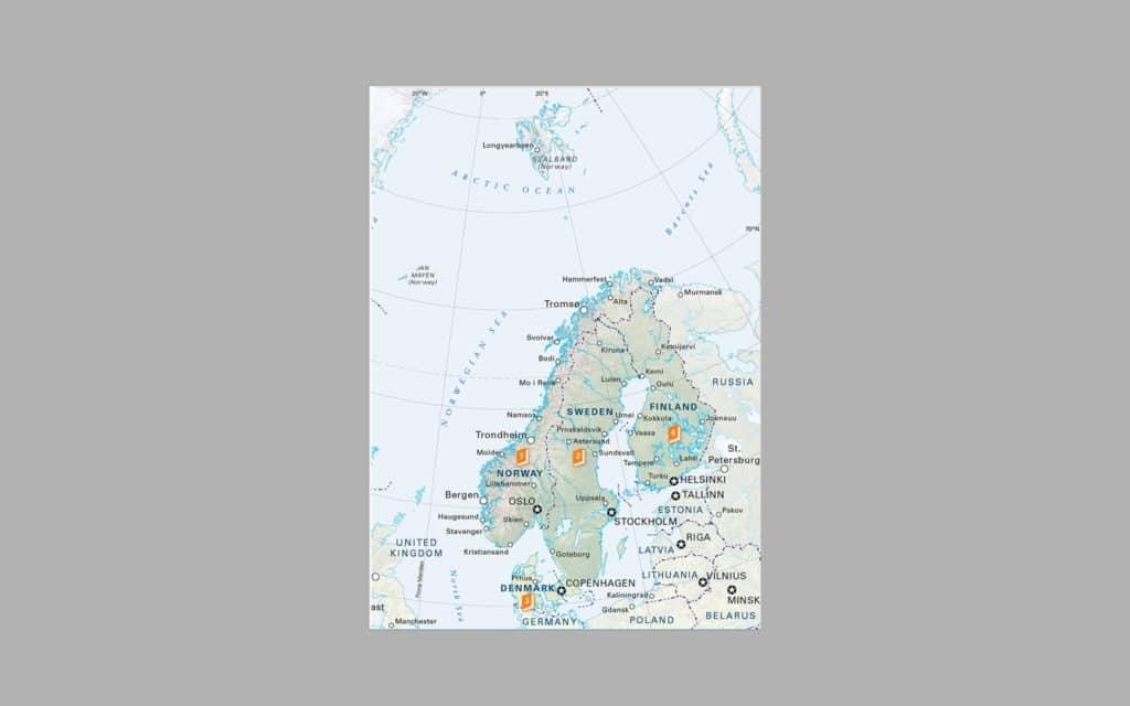 Map of Scandinavia 8